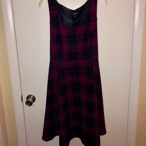 Fit&Flare Sleeveless Plaid Dress